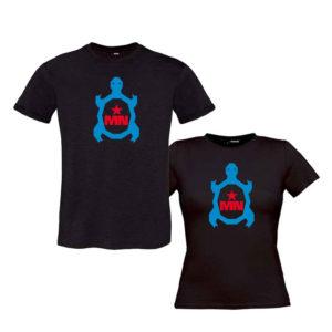 Camiseta-chica-negra-TORTUGA-Colores