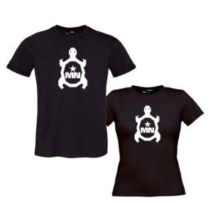 Camiseta-chica-negro-TORTUGA-en-blanco